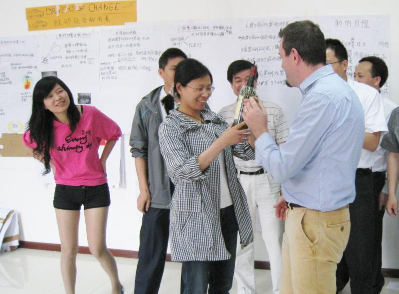 Peter with some particiapnts at the forest policy training in Beijing