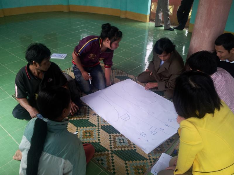 Participatory mapping of the forest in Hue, Viet Nam