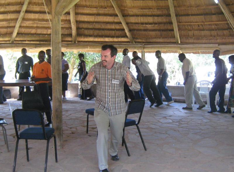 A break after facilitating a multistakeholder charcoal negotiation in Zambia