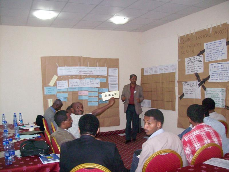 Some participants on a DFID supported training on good project design