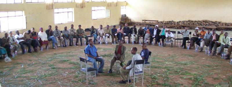 Fishbowl debate method being applied by PNRM consultants to Ethiopia