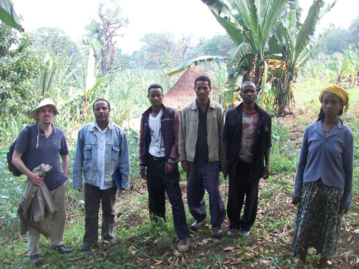 Peter returning from participatory forest assessment in SW Ethiopia Feb 2011