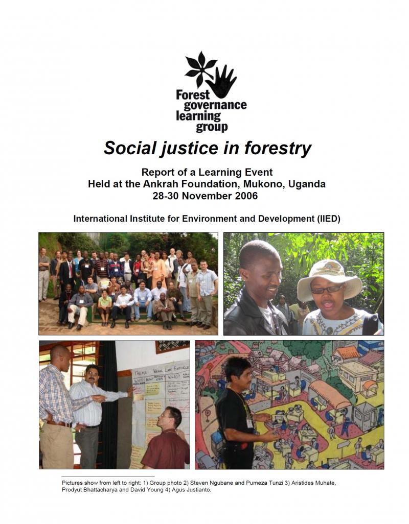 Social Justice in forestry - workshop report