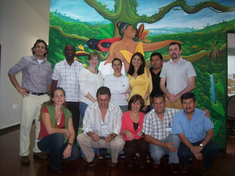 NRM consultant Peter O'Hara with training participants in Costa Rica